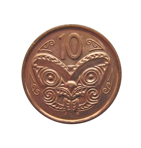 Новая Зеландия 10 центов 2012 г.