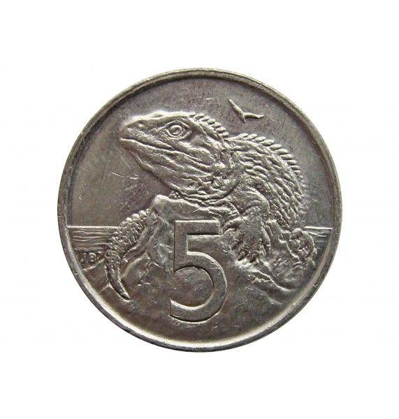 Новая Зеландия 5 центов 1999 г.