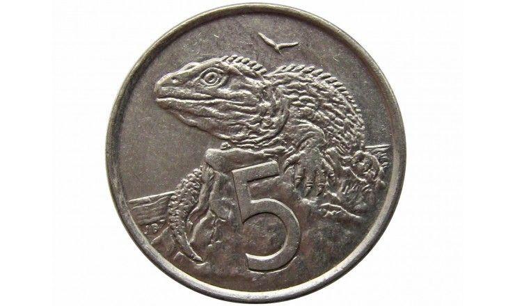 Новая Зеландия 5 центов 2002 г.