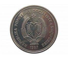 Албания 5 лек 1987 г. (60 лет порту в Дурресе)