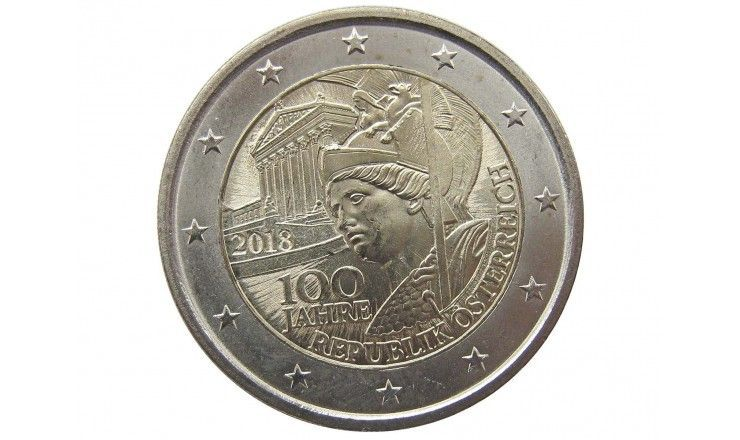Австрия 2 евро 2018 г. (100 лет республике)