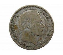 Дания 25 эре 1904 г.