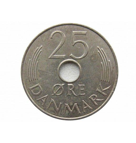Дания 25 эре 1985 г.