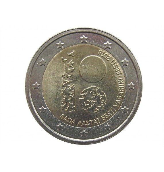 Эстония 2 евро 2018 г. (100 лет Эстонской республике)