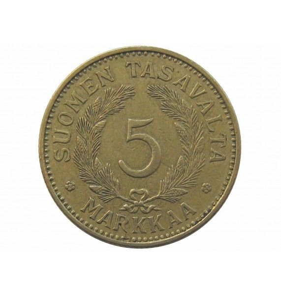 Финляндия 5 марок 1938 г.