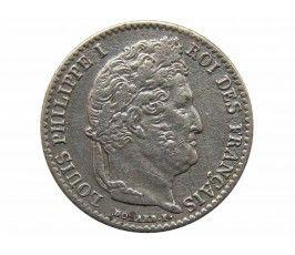 Франция 1/4 франка 1840 г. А