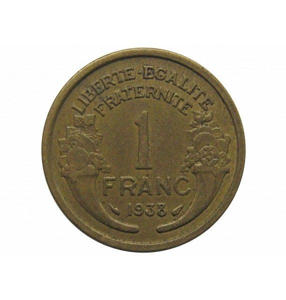 Франция 1 франк 1938 г.