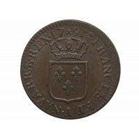 Франция 1 соль 1791 г. А