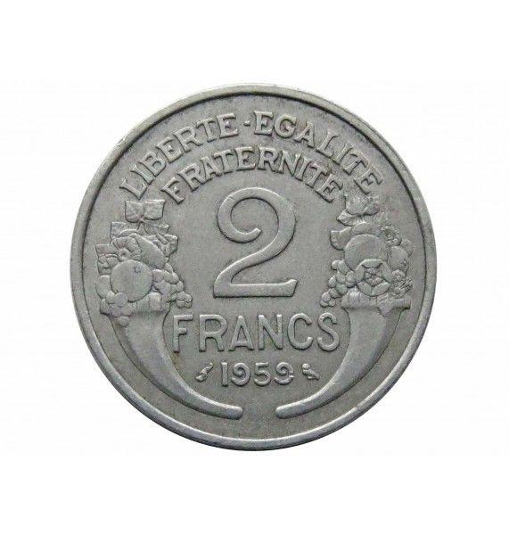 Франция 2 франка 1959 г.