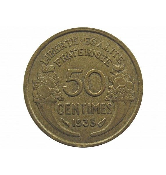 Франция 50 сантимов 1938 г.