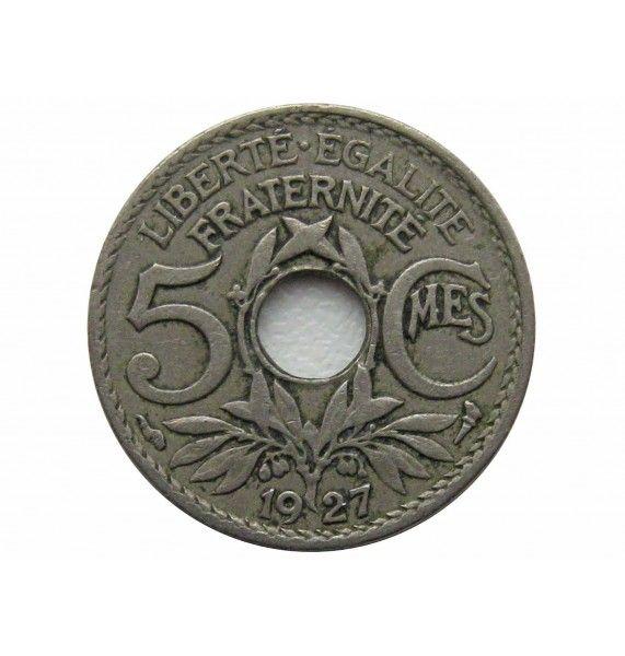 Франция 5 сантимов 1927 г.