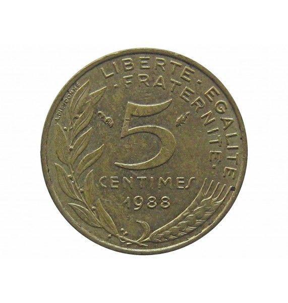 Франция 5 сантимов 1988 г.