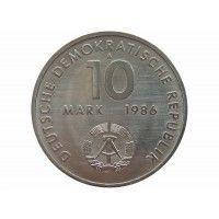 Германия 10 марок 1986 г. (100 лет со дня рождения Эрнста Тельмана)