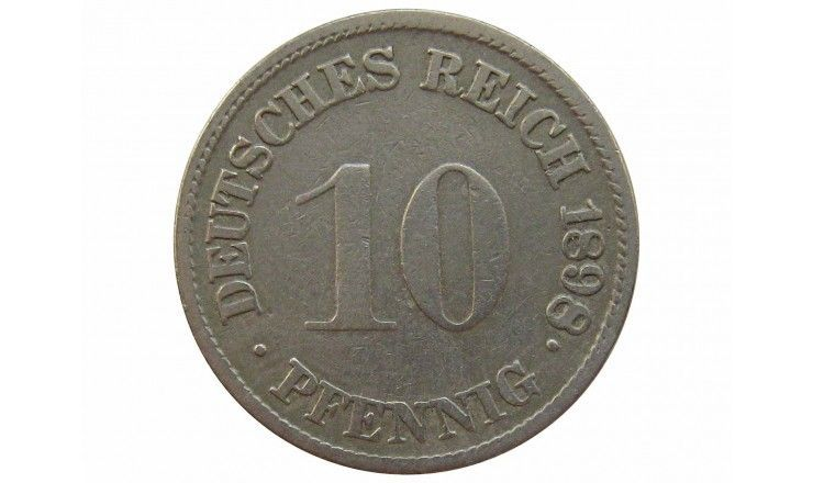 Германия 10 пфеннигов 1898 г. G