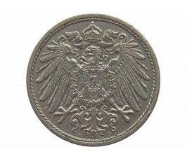 Германия 10 пфеннигов 1913 г. D