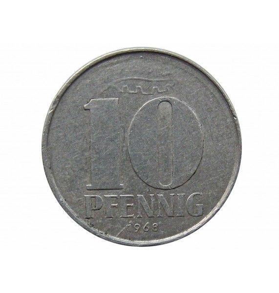 Германия 10 пфеннигов 1968 г. А