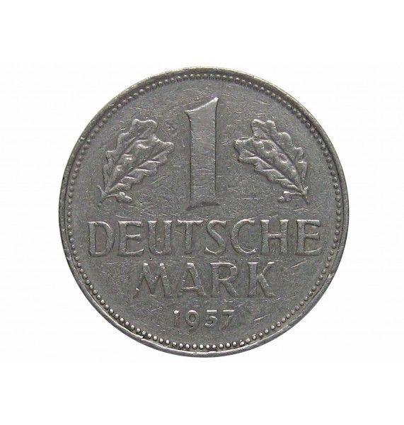 Германия 1 марка 1957 г. J
