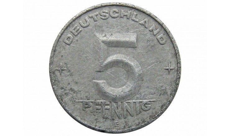 Германия 5 пфеннигов 1953 г. Е