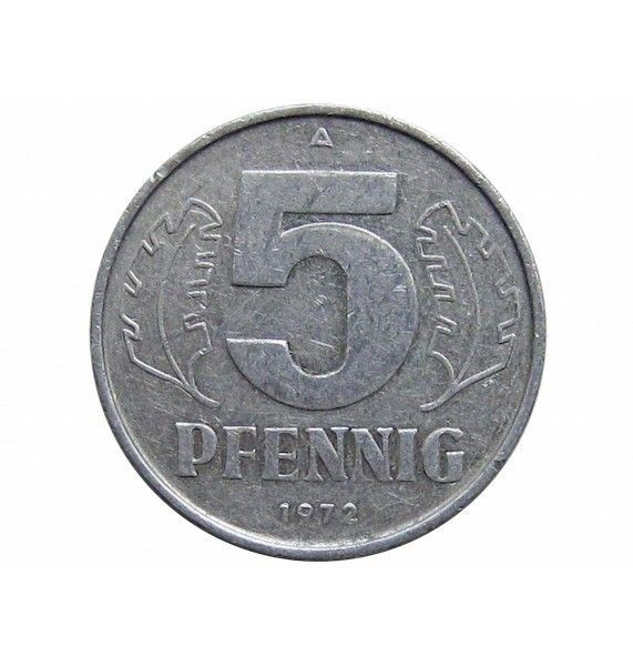 Германия 5 пфеннигов 1972 г. А