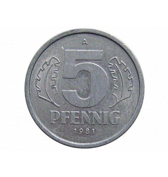 Германия 5 пфеннигов 1981 г. А