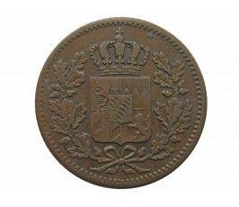 Бавария 1 пфенниг 1856 г.