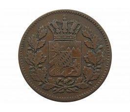 Бавария 2 пфеннига 1863 г.