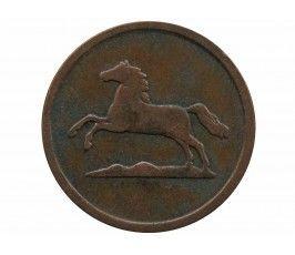 Брауншвейг-Вольфенбюттель 1 пфенниг 1855 г. В