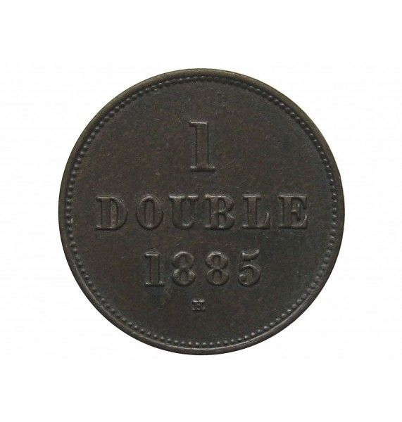 Гернси 1 дубль 1885 г.