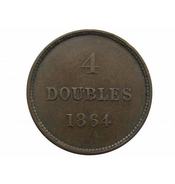 Гернси 4 дубля 1864 г.