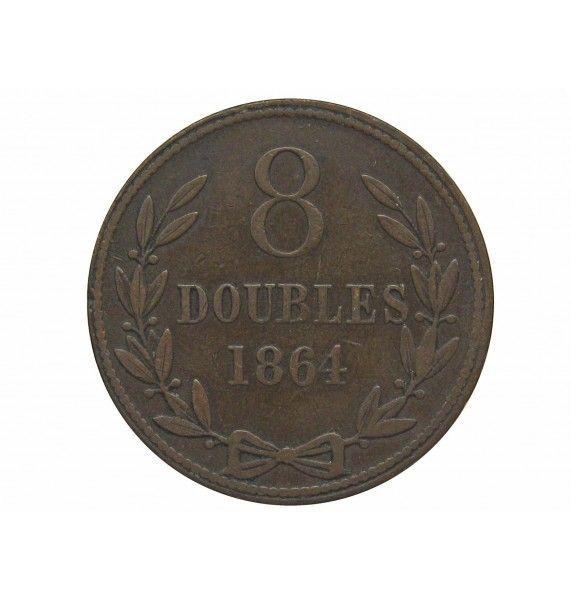 Гернси 8 дублей 1864 г.