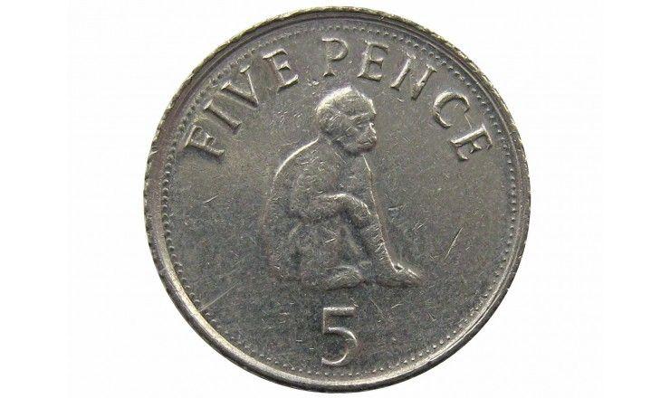 Гибралтар 5 пенсов 2007 г.