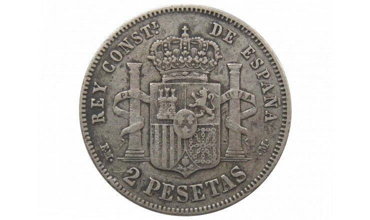 Испания 2 песеты 1879 (79) г.