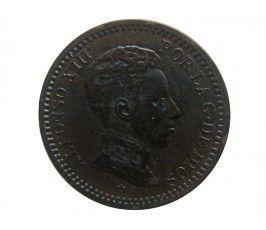 Испания 2 сентимо 1904 г.