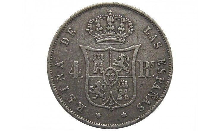 Испания 4 реала 1858 г.