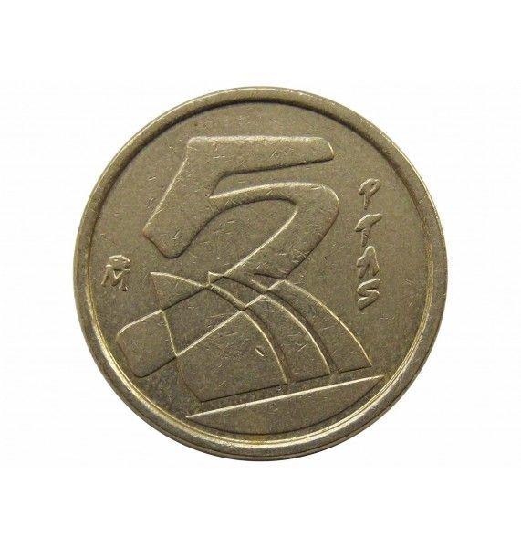 Испания 5 песет 1990 г.