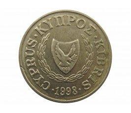 Кипр 2 цента 1998 г.