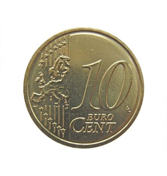 Латвия 10 евро центов 2014 г.