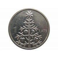 Латвия 1 лат 2009 г. (Рождественная ель)