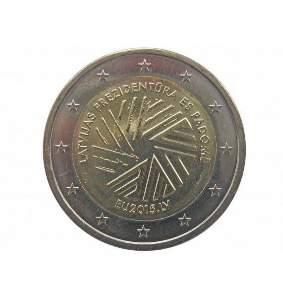 Латвия 2 евро 2015 г. (Председательство Латвии в Совете ЕС)