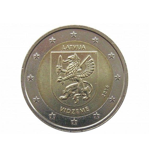 Латвия 2 евро 2016 г. (Видземе)