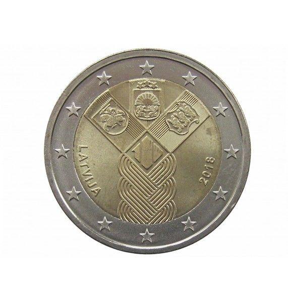 Латвия 2 евро 2018 г. (100 лет Независимости)