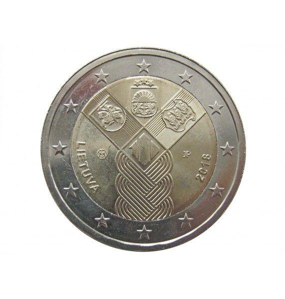 Литва 2 евро 2018 г. (100 лет независимости)