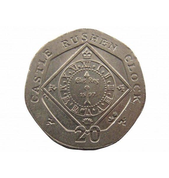 Остров Мэн 20 пенсов 2004 г.