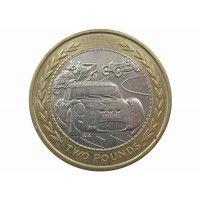 Остров Мэн 2 фунта 1998 г. AA