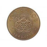 Монако 10 франков 1974 г. (25 лет правления князя Ренье III)