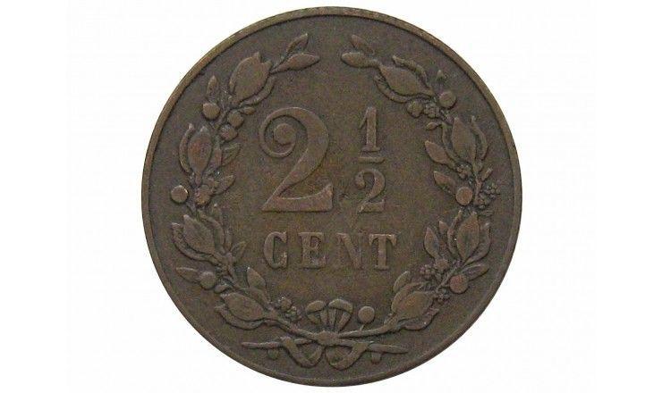 Нидерланды 2 1/2 цента 1898 г.