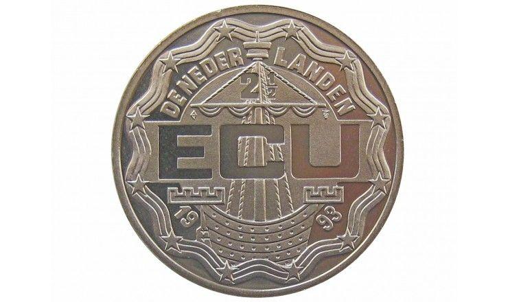 Нидерланды 2 1/2 экю 1993 г. (Маастрихтский договор)