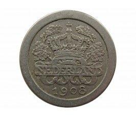 Нидерланды 5 центов 1908 г.