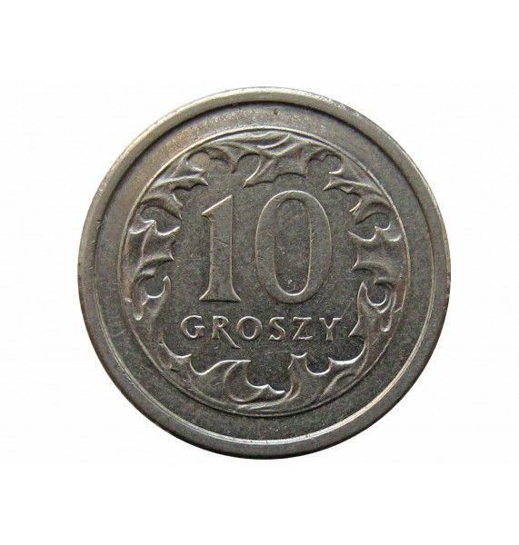 Польша 10 грошей 2004 г.