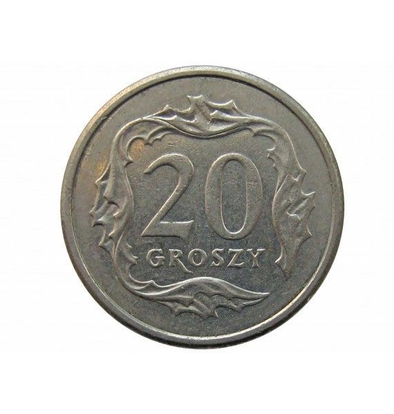 Польша 20 грошей 2008 г.